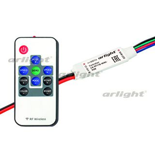 Контроллер ARLIGHT-025114 LN-RF11B-MINI-RGB [12-24V, 3x2A, ПДУ Карта 11 кн]