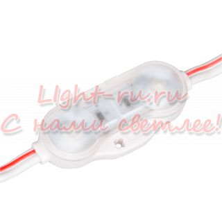 Модуль герметичный ARLIGHT-021485 ARL-BEST2835-2-1W-12V White 160deg