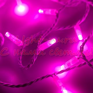 Светодиодная гирлянда ARLIGHT-025822 ARD-STRING-CLASSIC-10000-WHITE-100LED-FLASH PINK [230V, 7W]