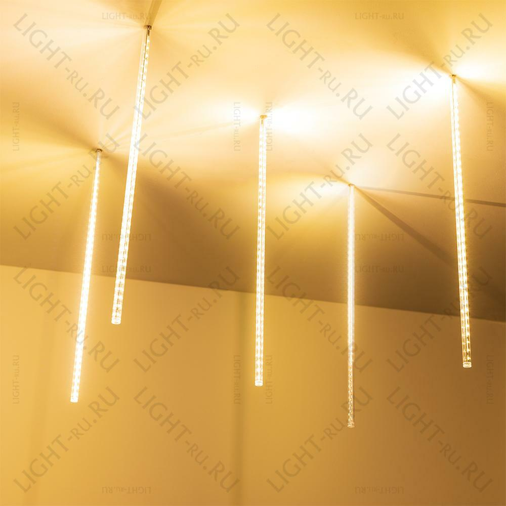 Светодиодная гирлянда ARLIGHT-026050 ARD-ICEFALL-CLASSIC-D12-500-5PCS-CLEAR-72LED-LIVE WARM [230V, 6W]